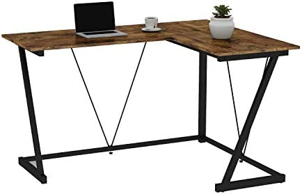 L-Shaped Computer Desk,PC Laptop Table Corner Home Office Desk Study Writing Modern Table Easy to Assemble Multi