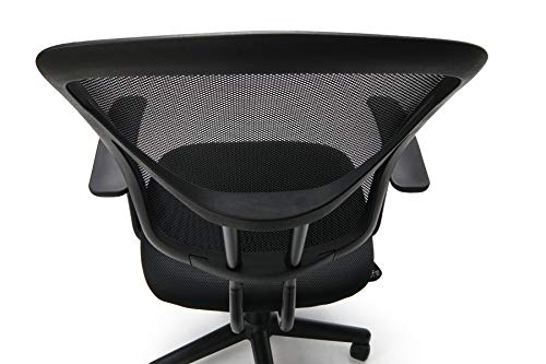 Essentials by OFM Mesh Swivel Task Chair with Arms, Black
