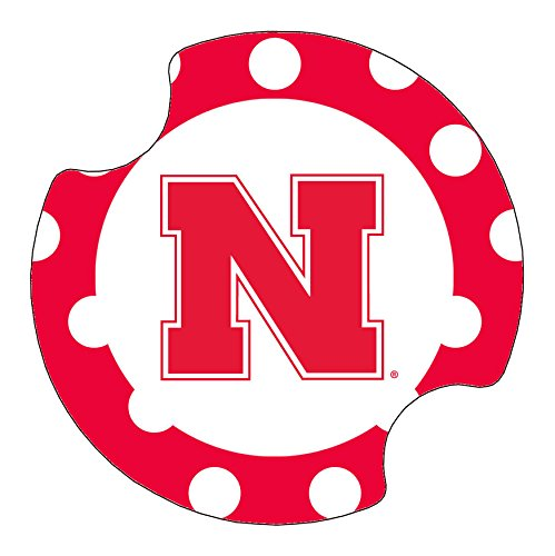 (Thirstystone University of Nebraska Dots Car Cup Holder Coaster, 2-Pack)