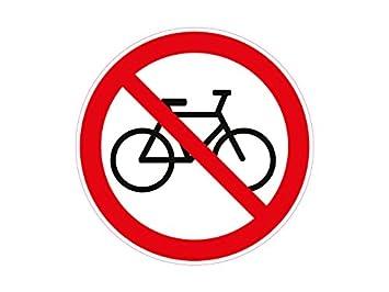 1 X Aufkleber Warnzeichen Fahrrad Verboten Räder Rad Warnung