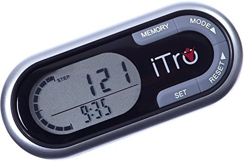 iTro ProStyle 3D Pedometer with Strong Clip Personal Fitness Tracker for Men, Women & Kids. With Step, Calorie & Distance Counter Enhance Your Physical Fitness and Lifestyle Now!