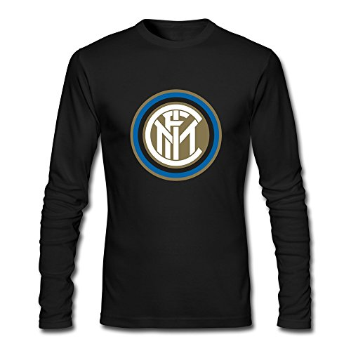 Men Inter Milan Custom Causal Size L Color Black Long Sleeve T Shirt By Mjensen