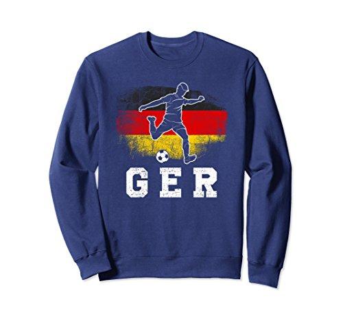 Unisex Germany Soccer! German Soccer Fan Sweatshirt Small Navy