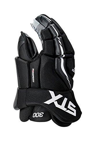 "STX Surgeon 300 Senior Ice Hockey Gloves, Black/Black, 14"""