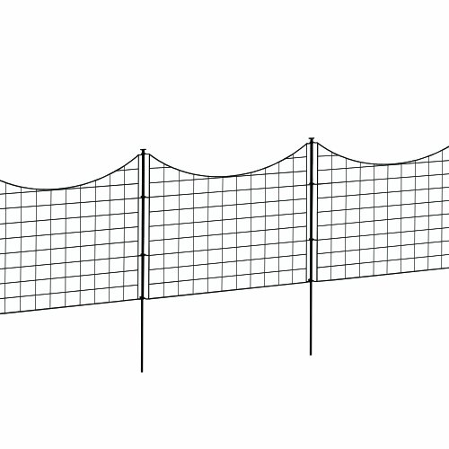 No Fence See Pet - WamBam Fence WF29001 Garden Metal Fence, 147.5