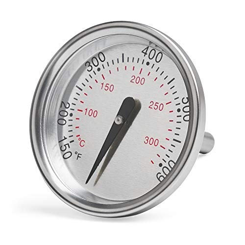 X Home 60540 Thermometer Replacement for Weber Charcoal, Q Series, Spirit 200/300 Series Grill, Spirit E/S-210 E/S-310 E/S-320, Q120 Q220 Q300 Q320, 1-13/16 Inch Dia-Temperature Gauge for Weber 7581