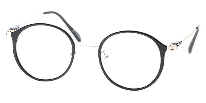 Amazon.com: SOOLALA Gafas de lectura redondas unisex de ...
