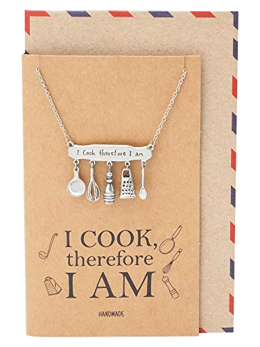 Collection, Pastry Chef Gifts, Cook Utensils Charm for Cooking Mama, Inspirational Cooking Collection Pendant for Bakers - 100% Handmade ()