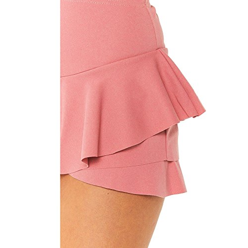 Layered Ruffled Womens Volants Mini Jupes Rose Jupe Juleya Haute Taille Shorts gqC5Pcw