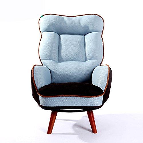 ZR- Feeding Sofa Breast Chair Pregnant Chair Single High Chair Lazy Sofa Bedroom Reading Books Sofa Swivel Chair (Color : Mesh Royal ()
