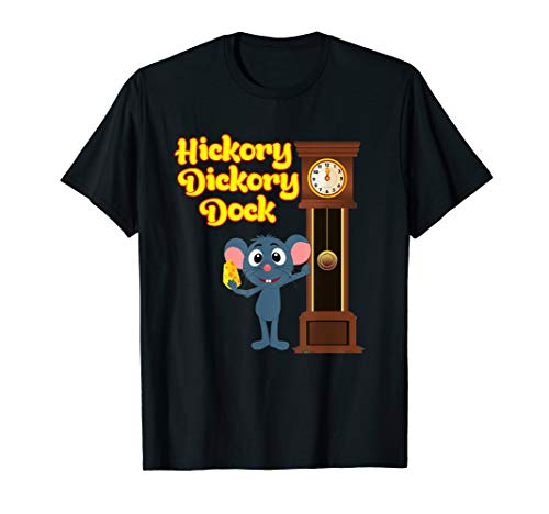 Hickory Dickory Dock Nursery Rhyme T-Shirt Adults and Kids