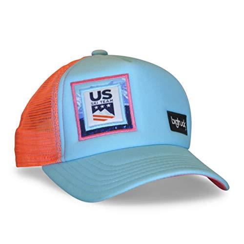 bigtruck Blue U.S. Ski Team Original Trucker Hat, Aqua Pink, Kids