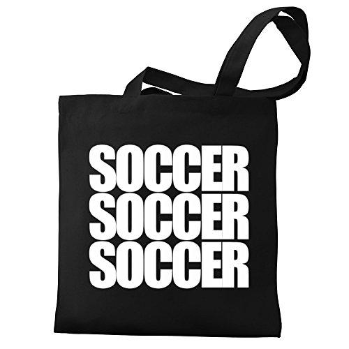 Eddany Eddany words Soccer Bag Canvas Tote three three words Soccer BB4qSO