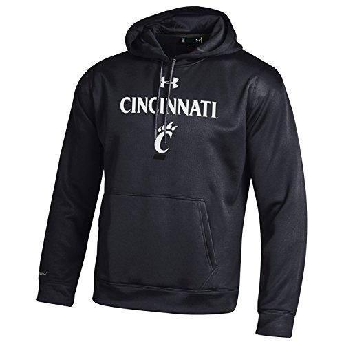 Under Armour NCAA Cincinnati Bearcats Men's Fleece Hoodie, Large, Black