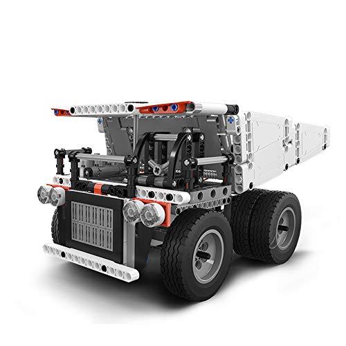 積み木 ラジコン模型鉱石運搬車 創意立体パズル おもちゃ ラジコンカー 積み木 組み立てキット 自由に組み合わせ (500+ pcs)