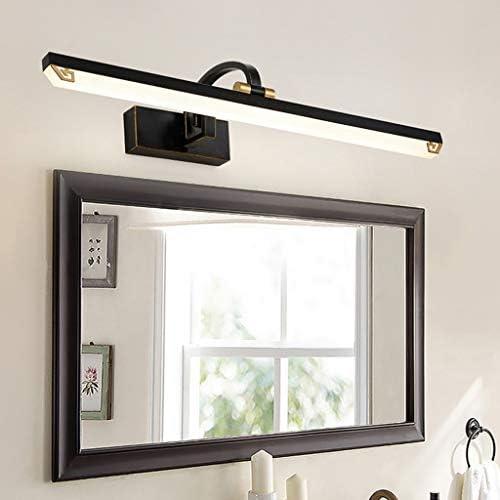 Badezimmer Spiegel-Front-Licht, LED-Schwarz-Gold Retro Spiegelschrank Beleuchtung Badezimmer Badezimmer WC Spiegel Frontleuchte beleuchtung (Color : White light)