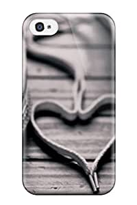 Top Quality Protection Converse Shoes Laces Heart Case Cover For Iphone 4/4s