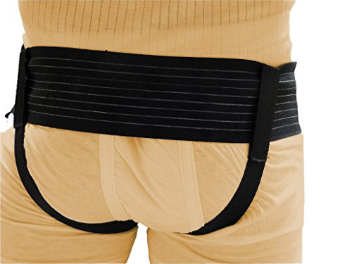 Wonder Care-Black Double / Single Inguinal Hernia Belt Support Brace - Truss Brace with two compression pads-medium by Wonder Care (Image #3)