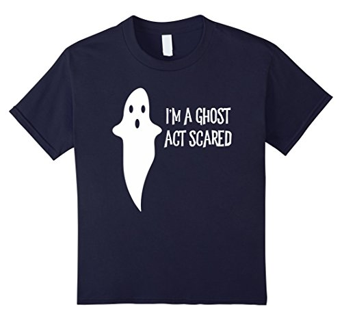 Sister Act Halloween Costume (Kids Funny I'm A Ghost Act Scared Halloween Costume 12 Navy)