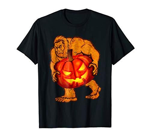 Scary Bigfoot Pumpkin Jack-O'-Lantern Halloween T-shirts]()