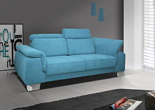 2er Sofa Darfo mit höhenverstellbare Lehne - Abmessungen: 182 x 95 cm (B x T)