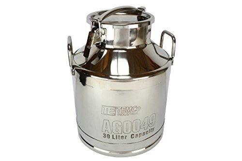 8 gallon stainless steel milk can - 1