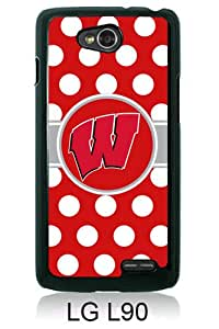 Ncaa Big Ten Conference Football Wisconsin Badgers 6 Black New Style Custom LG L90 Cover Case