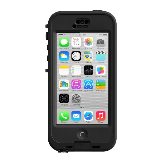 LifeProof NÜÜD iPhone 5c Waterproof Case - Retail Packaging - BLACK/CLEAR (Nuud Iphone 5 Case)