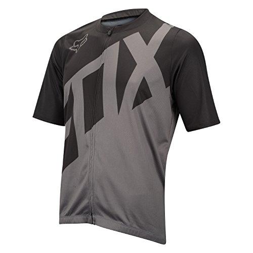 Fox Racing Livewire Jersey - Short Sleeve - Men's Black/Charcoal, L ()