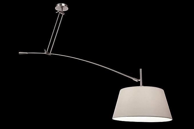 Sompex toledo lampada a sospensione decentrata metallo raso