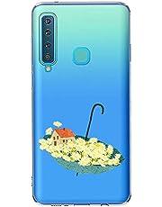 Oihxse Case Transparente Suave TPU Compatible con Samsung Galaxy J510 Funda [Lindo Caricatura Flor Serie Dibujos] Cristal Protector Carcasa Anti Rasguños Bumper Cover-Paraguas