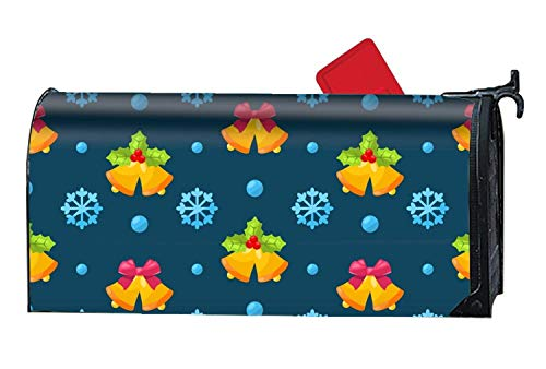 Chik yx Customized Magnetic Mailbox Cover Home Garden Mailbox Wraps - Jingle Bells