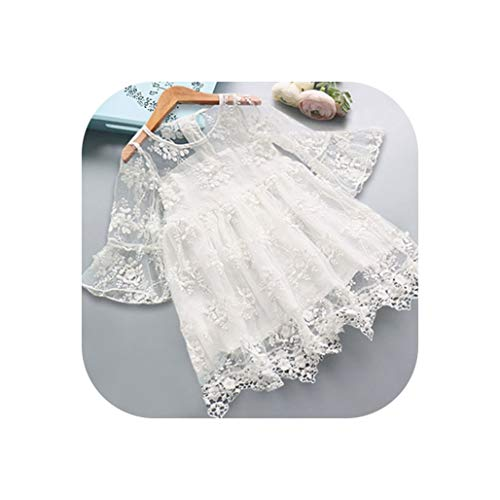 Dress Kids Dresses for Girls Summer Clothes Lace Flower One-Fifth Embroidery Princess Girls -