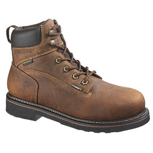 WOLVERINE WORLDWIDE - Brek Waterproof Boots, Extra Wide, Brown Leather, Men's Size 13