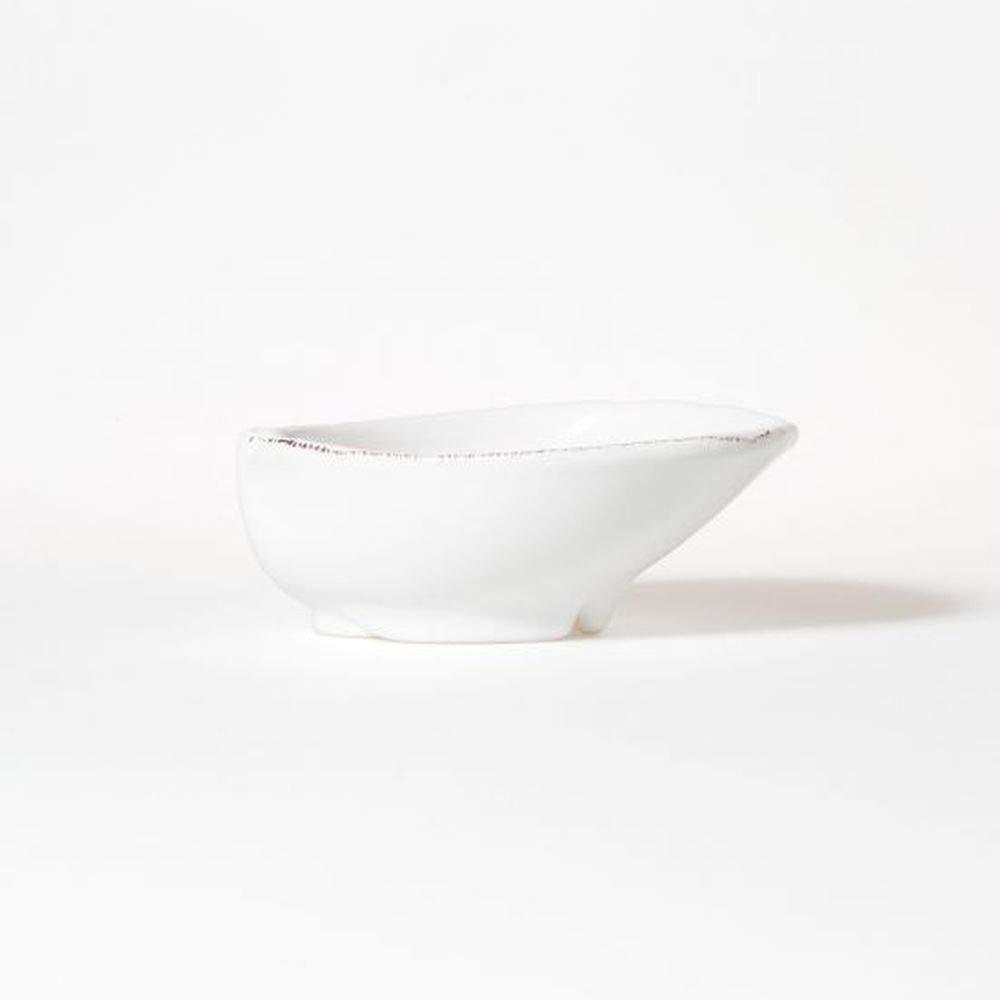 Vietri Lastra White Medium Oval Bowl