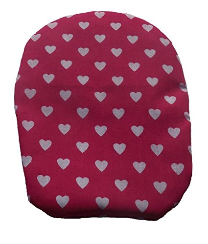 Simple Stoma Cover Ostomy Bag Cover Sweet Heart Print Cerise Pink (Cerise Heart)