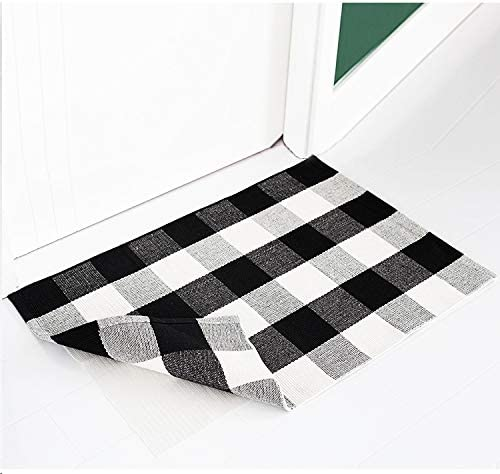 Mibao Entrance Door Mat Large Heavy Duty Front Outdoor Rug Non-Slip Welcome Doormat for Entry, 18 x 30 inch, Grey