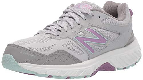 New Balance Women's 510v4 Cushioning Trail Running Shoe, RAINCLOUD/TWILIGHT ROSE, 6 W US