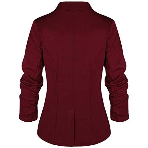 e09b48651698a Logobeing Mujer Chaqueta Blazer de Tres Cuartos Blazer Elegante de Traje  Delgado Estilo OL Moda Abrigo Mujeres  Amazon.es  Ropa y accesorios
