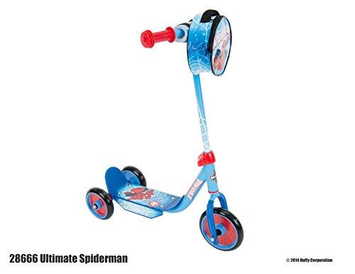 Marvel Ultimate Spider-Man Boys' 3-Wheel Preschool Scooter, by Huffy