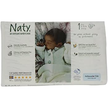 Naty Chlorine-Free ECO Diapers Size 1 (8-14lbs) (Pack of 4)