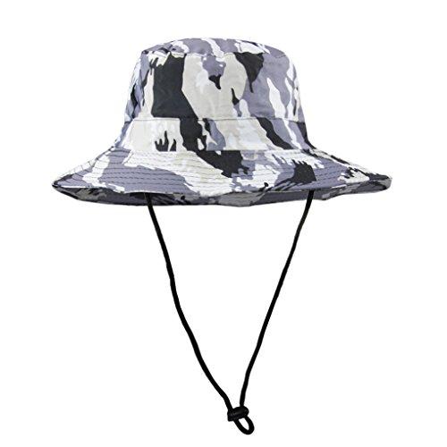 Garçons Chapeau de Soleil Plage Camouflage Anti-UV Casquette Visière  Protection Solaire avec Boucle de b93e3b90fc1