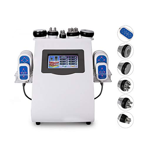 - 6 in1 Multifunction Body Slimming Treatment Machine Face Shaping Skin Tightening Wrinkle Removal Beauty Machine with Fat Freeze, Vacuum, Cavitation, Bipolar RF, Vacuum Pads
