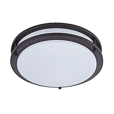 Britelight 5 year warranty 16 inch LED Flush Mount Ceiling Light, 25W 1750 Lumens, ETL Listed, Dimmable