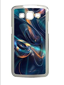 3D Bubbly Spheres And Waves Custom Samsung Galaxy Grand 2 7106 Case Cover ¡§C Polycarbonate ¡§CTransparent