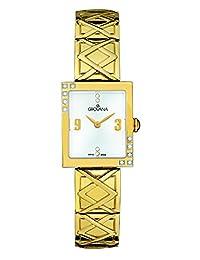 Grovana Women's 4568-7112 Ladies Dress line Analog Display Swiss Quartz Gold Watch