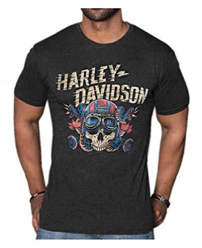 Harley-Davidson Men's Steel Serpents Short Sleeve T-Shirt - Vintage Black (L) ()