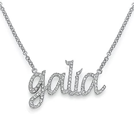 Personalized Name Necklace Pendant Custom Made Jewelry for Her Kids gift 2 Pendent 2 Name