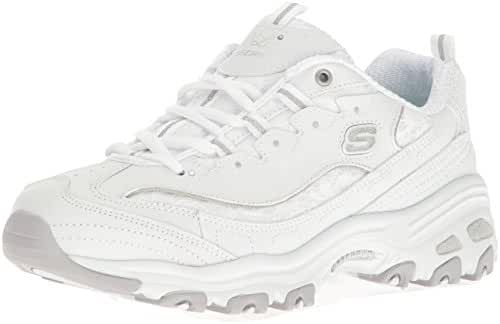 Skechers Sport Women's D'Lites Memory Foam Lace-up Sneaker