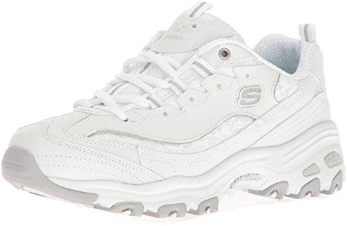 Skechers Sport Women's D'lites Looking Glass Fashion Sneaker, White Lace, 8 M US 11959